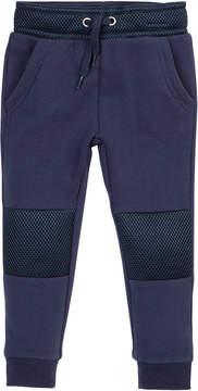 Petit Lem Mesh-Trim Knit Lounge Pants, Size 2-6X