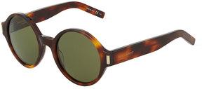 Saint Laurent Opaque Round Plastic Sunglasses