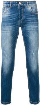 Entre Amis slim-fit distressed jeans