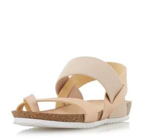 Head Over Heels *Head Over Heels by Dune Rose Gold 'Laury' Flat Sandals