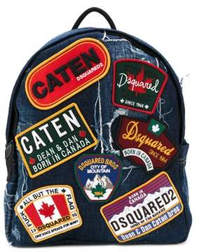 DSQUARED2 Men's Blue Cotton Backpack.