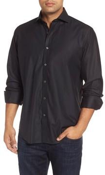 Bugatchi Men's Classic Fit Solid Mercerized Cotton Sport Shirt