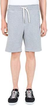 The Kooples Tricolor Stripe Fleece Shorts