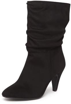 Dorothy Perkins Black 'Katie' Ruched Knee Boots