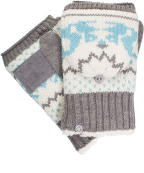 Isotoner Womens Cable Knit Flip Top Mittens