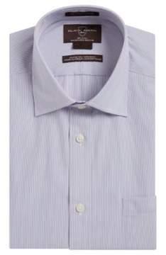 Black & Brown Black Brown Stripe Cotton Dress Shirt