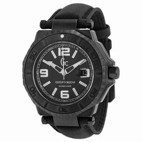 GUESS GC-3 Collection Black Dial White Accent Men's Watch X79011G2S