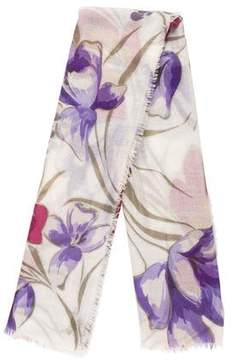 Loro Piana Cashmere and Silk Floral Scarf