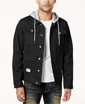 Lrg Men's Rc Hooded Denim Jacket