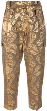 Christian Pellizzari metallic jacquard trousers