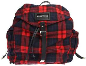 DSQUARED2 Wool Backpack With Leather Details