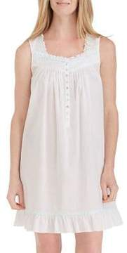 Eileen West Ruffle Cotton Chemise