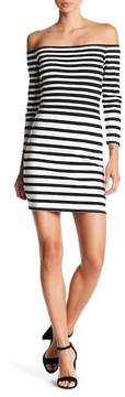 Cupcakes And Cashmere Fira Off-the-Shoulder Striped Dress