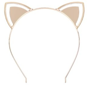 GUESS Women's Gold-Tone Cat Ears Headband