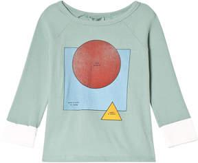 Bobo Choses Beryl Green Motif Three Quarter Sleeve T-Shirt