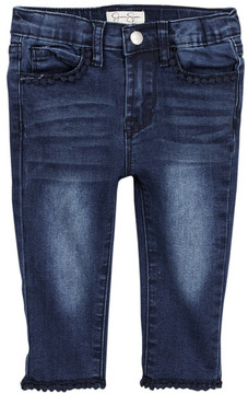 Jessica Simpson Lace Trim Denim Jean (Toddler Girls)