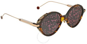 Christian Dior Pink Foliage Round Sunglasses UMBRAGE/S