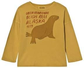 Bobo Choses Mustard Otariinae Print T-Shirt
