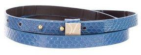 Diane von Furstenberg Embossed Leather Wrap Belt