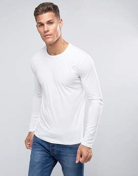 Benetton Long Sleeve T-Shirt In White