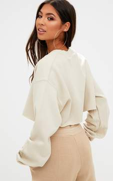 Sand PLT Cropped Sweater