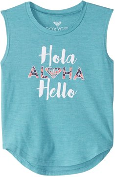 Roxy Girls' Hola Hello Muscle Tee (Little Kid) 8167480