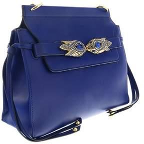 Roberto Cavalli Blue Leather Shoulder Bag