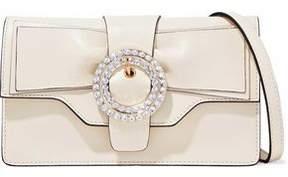 RED Valentino Crystal-Embellished Leather Shoulder Bag