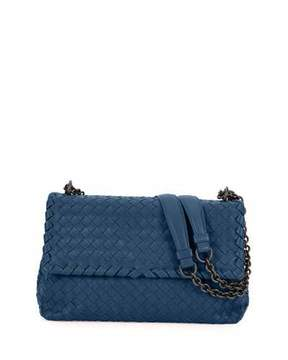 Bottega Veneta Olimpia Medium Intrecciato Shoulder Bag, Pacific Blue
