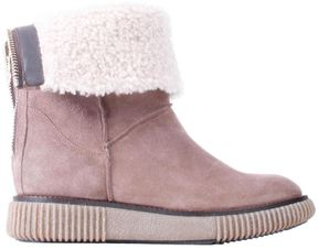 Moncler Lambskin Taupe Woman New Christine Ankle-boots