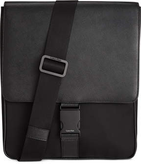 Calvin Klein Nylon and Saffiano Leather City Bag