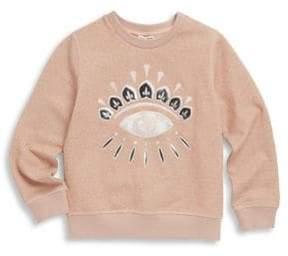 Kenzo Toddler's, Little Girl's& Girl's Eyelash Sweatshirt