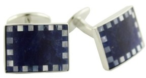 David Donahue Men's Sterling Silver, Sodalite & Mother-Of-Pearl Cuff Links