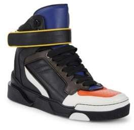 Givenchy Colorblock Leather High-Top Sneakers