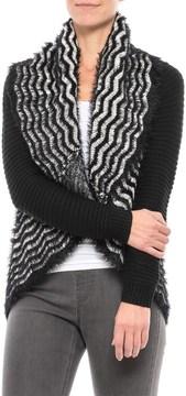 Chelsea & Theodore Draped Eyelash Chevron Sweater (For Women)
