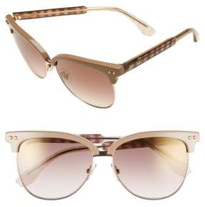 Jimmy Choo Women's 'Aryaya' 57Mm Retro Sunglasses - Beige