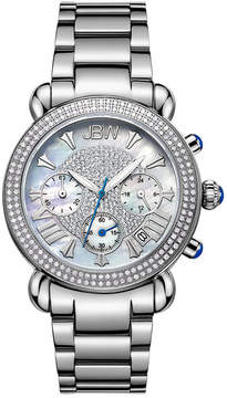 JBW Victory Womens Diamond-Accent Stainless Steel Bracelet Watch JB-6210-160-A