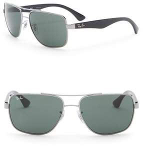 Ray-Ban 60mm Metal Square Sunglasses