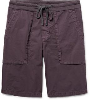 James Perse Slim-Fit Stretch-Cotton Poplin Cargo Shorts
