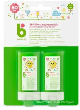 Babyganics Mineral Sunscreen Stick - SPF 50 - 2ct