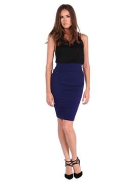 Veronica M Textured Body Con Skirt.