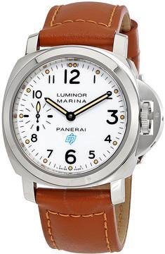 Panerai Luminor Marina Hand Wound White Dial Men's Watch