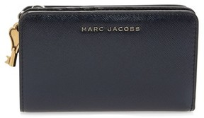 Marc Jacobs Women's Saffiano Leather Compact Wallet - Blue - BLUE - STYLE