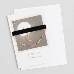 World Market Gold and Velvet Choker Necklaces Gift Set with Greeting Card