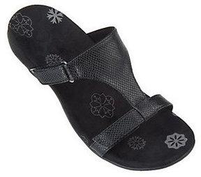 Vionic As Is Orthaheel Molly Orthotic Snake Embossed Slide Sandals