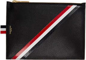 Thom Browne Black Large Diagonal Stripe Coin Purse