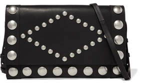 Isabel Marant Nicia Studded Leather Shoulder Bag - Black