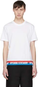 Opening Ceremony White Elastic Logo T-Shirt