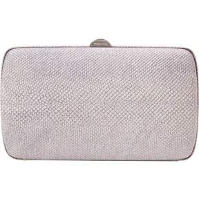 Sergio Rossi Metallic Cotton Clutch Bag