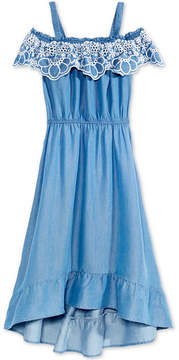 Epic Threads Embroidered Chambray Dress, Big Girls, Created for Macy's